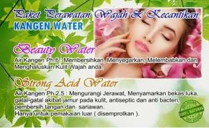 Manfaat Air Kangen Water -  beauty water dan strong acid untuk Kecantikan Alami